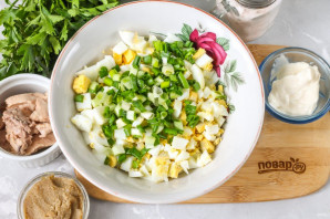 Салат из печени и икры минтая - фото шаг 2