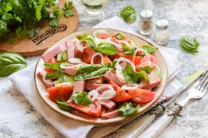 Салат с ветчиной, помидорами и базиликом - фото шаг 7