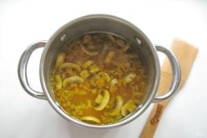Грибной суп с клецками - фото шаг 9