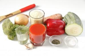 Овощи в томатном соке - фото шаг 1