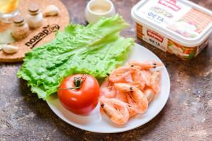 Салат с креветками и сыром фета - фото шаг 1