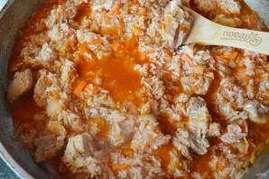 Плов на сковороде со свининой - фото шаг 9