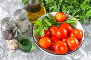 Резанные помидоры с маслом на зиму - фото шаг 1