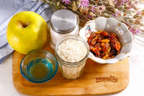 Рисовая каша с яблоками и изюмом - фото шаг 1