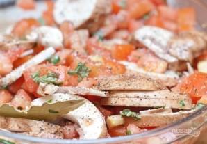 Куриное филе с овощами в духовке - фото шаг 5