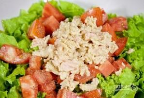 Салат с моцареллой - фото шаг 3