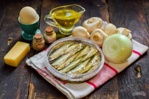 Салат со шпротами и грибами - фото шаг 1
