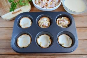 Хлебные корзиночки с начинкой - фото шаг 8