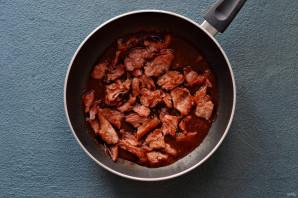 Соевое мясо по-монгольски с кетчупом - фото шаг 7