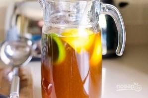 Холодный чай с лаймом и лимоном - фото шаг 4
