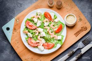 Салат с креветками и сыром фета - фото шаг 7
