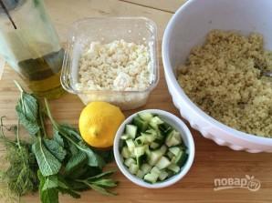 Салат с киноа, огурцом и сыром - фото шаг 1