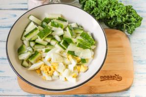 Салат из свиного языка с огурцом - фото шаг 2