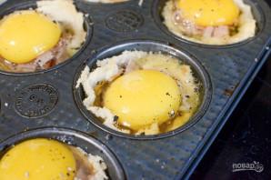 Маффины с яйцом на завтрак - фото шаг 4