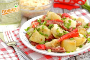 Картофель с копченой колбасой - фото шаг 7