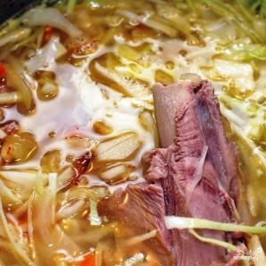 Суп из индейки с капустой - фото шаг 7