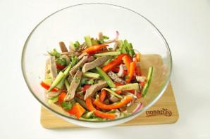 Китайский салат с языком - фото шаг 7