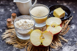 Пирог с яблоками без теста - фото шаг 1