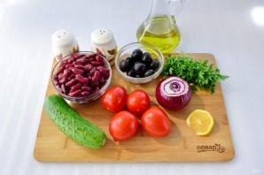 Иберийский салат из красной фасоли - фото шаг 1