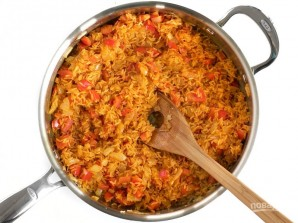 Рис с морепродуктами и овощами - фото шаг 4