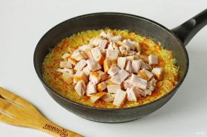 Рис с копченой курицей - фото шаг 7