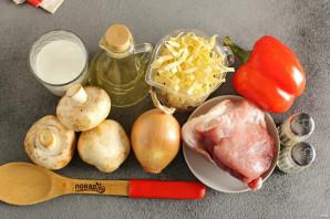 Лапша с грибами и мясом - фото шаг 1