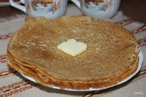 Рецепт блинов на кефире без яиц - фото шаг 7
