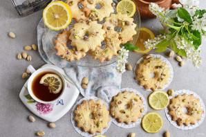 Лимонные колечки с фисташками