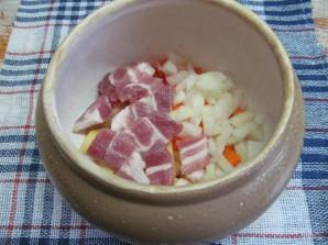 Мясной суп с чечевицей в духовке  - фото шаг 3