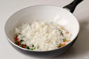 Вок рисом и овощами - фото шаг 5