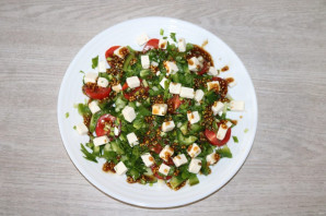 Салат с зелёным болгарским перцем - фото шаг 8