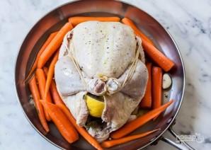 Запеченная курица с морковью - фото шаг 5