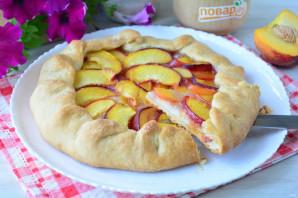 Постный пирог с персиками - фото шаг 11