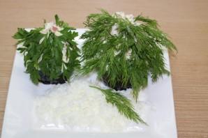 Порционный салат на Новый год - фото шаг 8