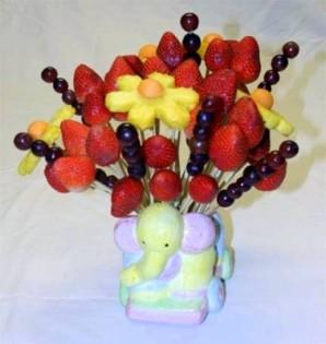 Букет из фруктов своими руками - фото шаг 6