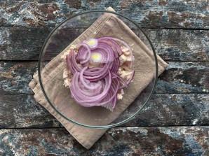 Салат из стручковой фасоли с мясом - фото шаг 4