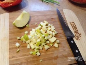 Салат из булгура с яблоком, сельдереем и перцем - фото шаг 6