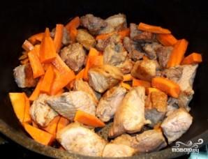 Картошка с мясом в казане - фото шаг 4