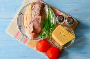 Куриная грудка фаршированная сыром и помидорами - фото шаг 1