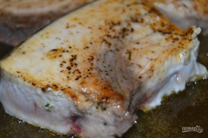 Рыба-меч на сковороде - фото шаг 4