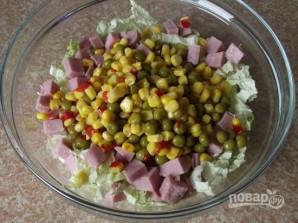 Салат с пекинской капустой и ветчиной - фото шаг 3