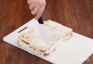 Бисквитное пирожное с белковым кремом - фото шаг 9