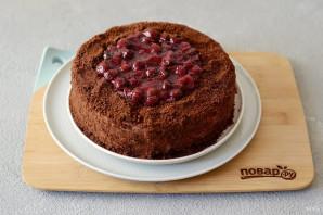 Постный вишневый торт - фото шаг 15