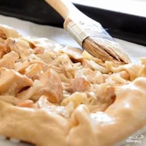 Пирог с грибами, сметаной и сыром - фото шаг 5