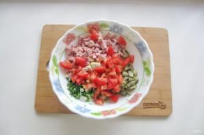Салат с картошкой и ветчиной - фото шаг 6