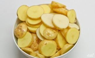 Слоеная картошка со свининой - фото шаг 1