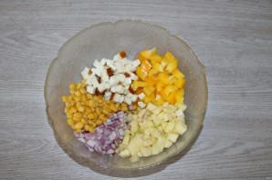 Салат с яблоком и болгарским перцем - фото шаг 3