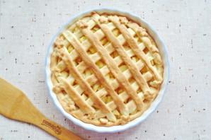 Яблочный пирог с решеткой - фото шаг 13