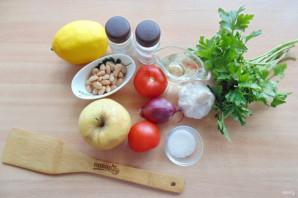 Салат с фасолью и яблоками - фото шаг 1