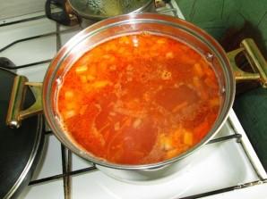 Борщ с консервированной фасолью - фото шаг 7
